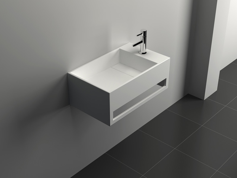 Solid Surface Wall-hung Bathroom Sink JZ1007